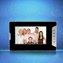 Nueva marca de 7 pulgadas de color de vídeo teléfono de puerta de intercomunicación del sistema de monitor de interior pantalla sin IR al aire libre cámara Envío rápido libre