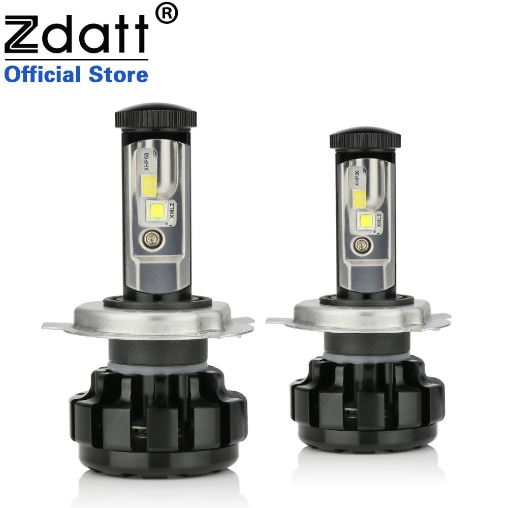 Zdatt 100 W 14000LM H4 Auto Led-koplampen H7 H8 H11 Canbus Ingebouwde Decoder Fout Gratis Auto Lamp 12 V Koplamp
