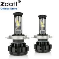 Zdatt H4 Led 헤드 라이트 H7 H11 LED 자동차 램프 아이스 램프 Canbus 다이오드 램프 9005 HB3 12V 24V 자동차 제품