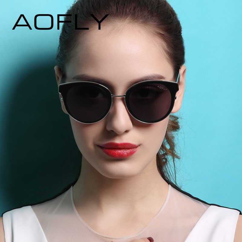 AOFLY Sunglasses Cat Eye Sunglasses Women Oval Glasses Retro Female Sun Glasses Luxury Fashion Women Eyeglasses