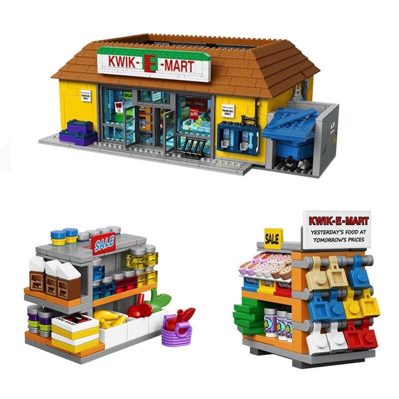 ФОТО bricks DHL bricks 16004 The Simpsons Kwik-E-Mart Building Blocks Set Mini blocks Bricks Christmas Gift Clone 71016