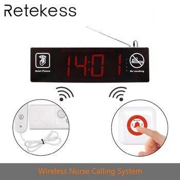 Sistema de Chamada Sem Fio Enfermeira reticência com Double-sided Exibição + 2 botão de Chamada para os hospitais, pessoal clínicas e lares de idosos