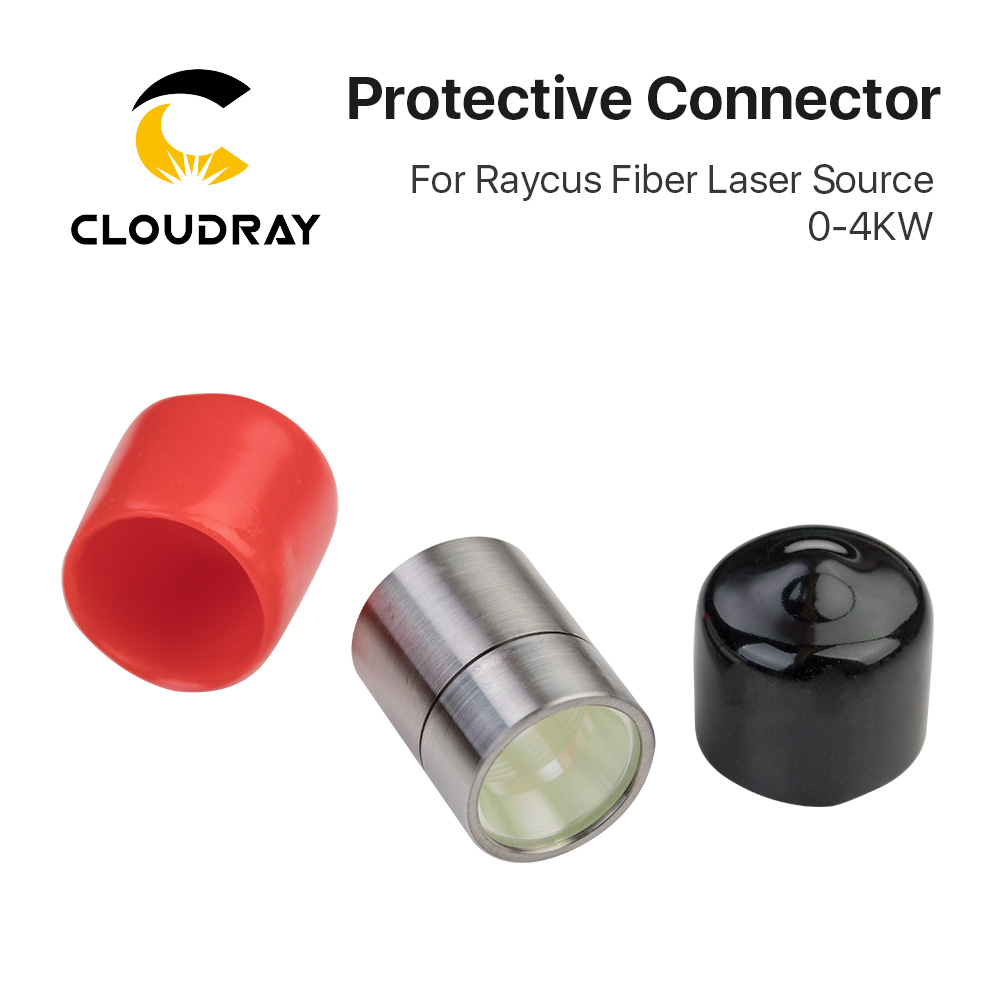 Cloudray Raycus 0-4KW Output Connector Protective Lens Group QBH For Raycus Fiber Laser Source 0-4KW Fiber Laser Cutting