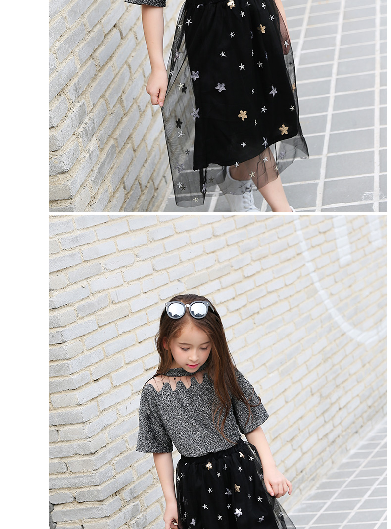 5819ff529e91 Girls Clothing Sets Teenage Summer Fashion costume for Big girl outfits  2pcs T shirt + Sequins Mesh Skirts 6 8 10 12 14 16 Years 0 10 11 A A1 ...