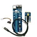 Mini pci-e pci express riser card  1x to 16x USB 3.0 Data Cable SATA to 4Pin IDE Molex Power Supply for BTC Miner Machine riser