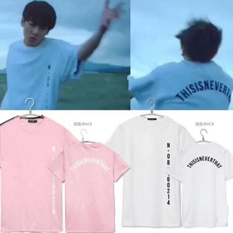 2017 Recién Llegado de BTS Camiseta Kpop BTS Bangtan niños Unisex Tee SÁLVAME JU