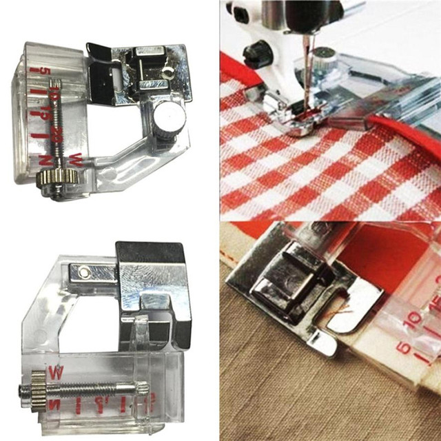 40PC Adjust Bias Tape Binder Foot Snap On For Singer Janome Brother New Singer Or Brother Sewing Machines