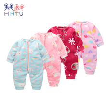 HHTU 2017 Infant Romper Baby Boys Girls Jumpsuit Newborn Clothing Hooded Toddler Baby Clothes Cute Elk Romper Baby Costumes