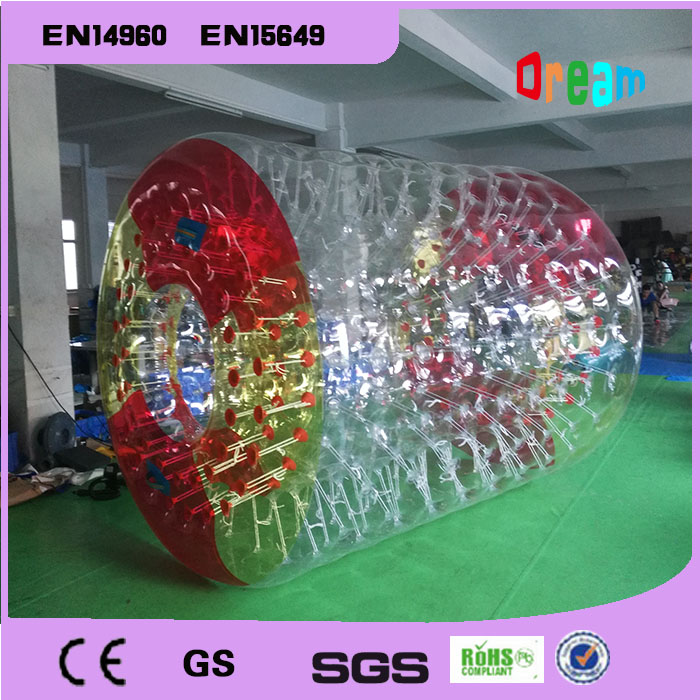 Free Shipping 3m Large Inflatable Hamster Ball Rotary Drum Ball Wheel Water Roller For Summer Running Roller