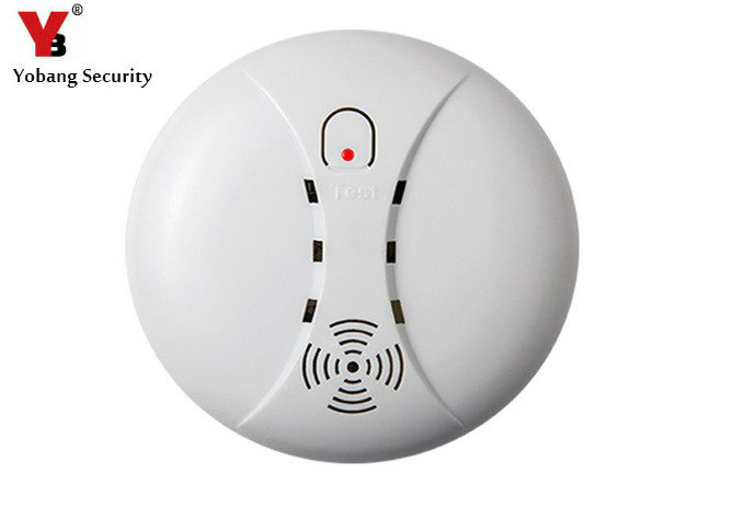 YobangSecurity Battery Powered 433MHz Wireless Smoke Sensor Detector Alarm for Alarm System