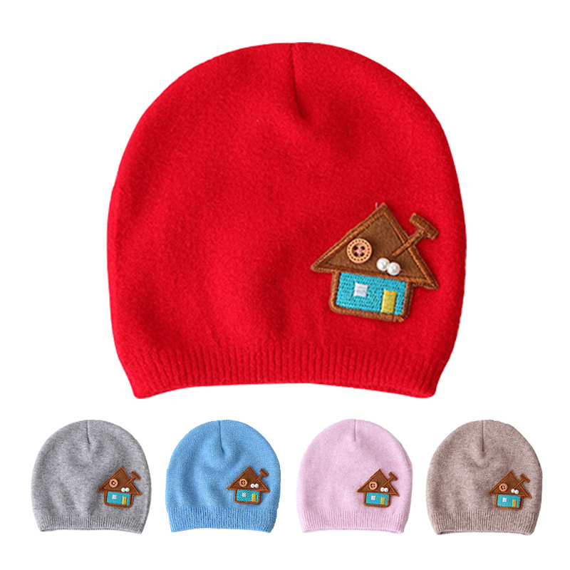 Cute Baby Girls Hat Solid Newborn Baby Beanie Soft Cotton Infant Hat Embroidery Knit Boys Hat Autumn Beanie Baby Girls Clothing