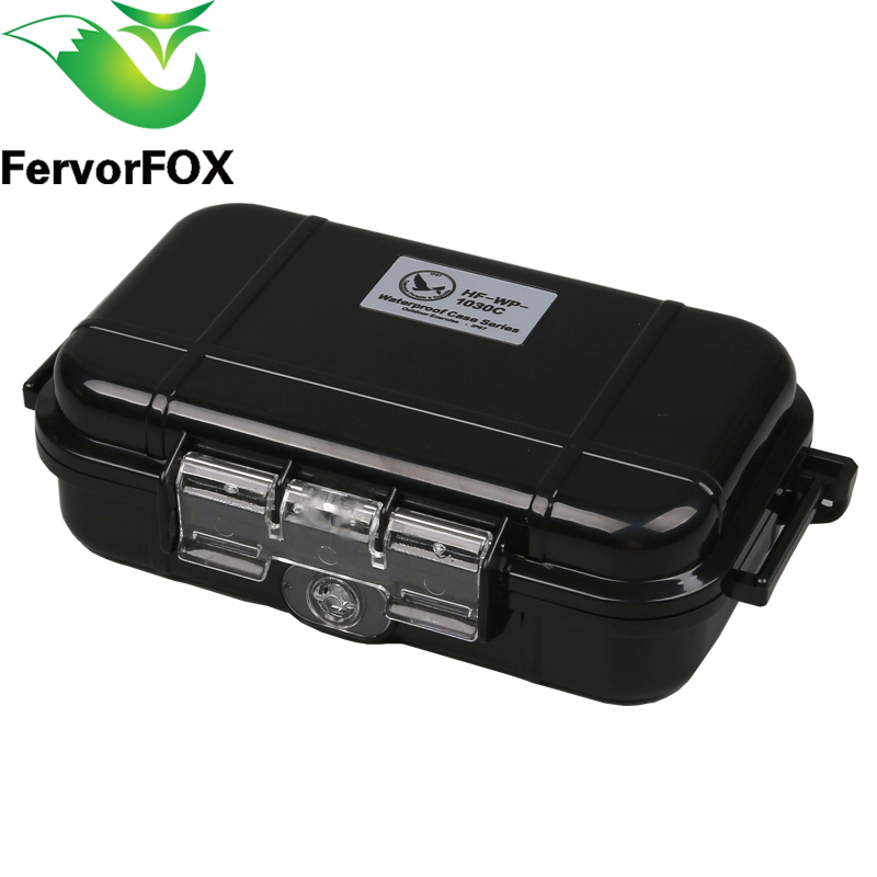 Outdoor Travel Plastic Shockproof Waterproof Box Storage Case Enclosure Airtight Survival Container EDC Camping Shockproof Box camera lens waterproof shockproof case dry storage seal box