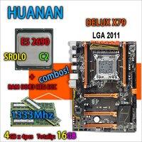 HUANAN Golden Deluxe Version X79 Gaming Motherboard LGA 2011 ATX Combos E5 2690 C2 SR0L0 4
