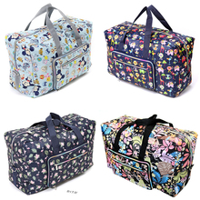 Складная дорожная сумка для женщин большой ёмкость Портативный плеча вещевой мешок мультфильм печати непромокаемые выходные сумка для багажа оптовая продажа