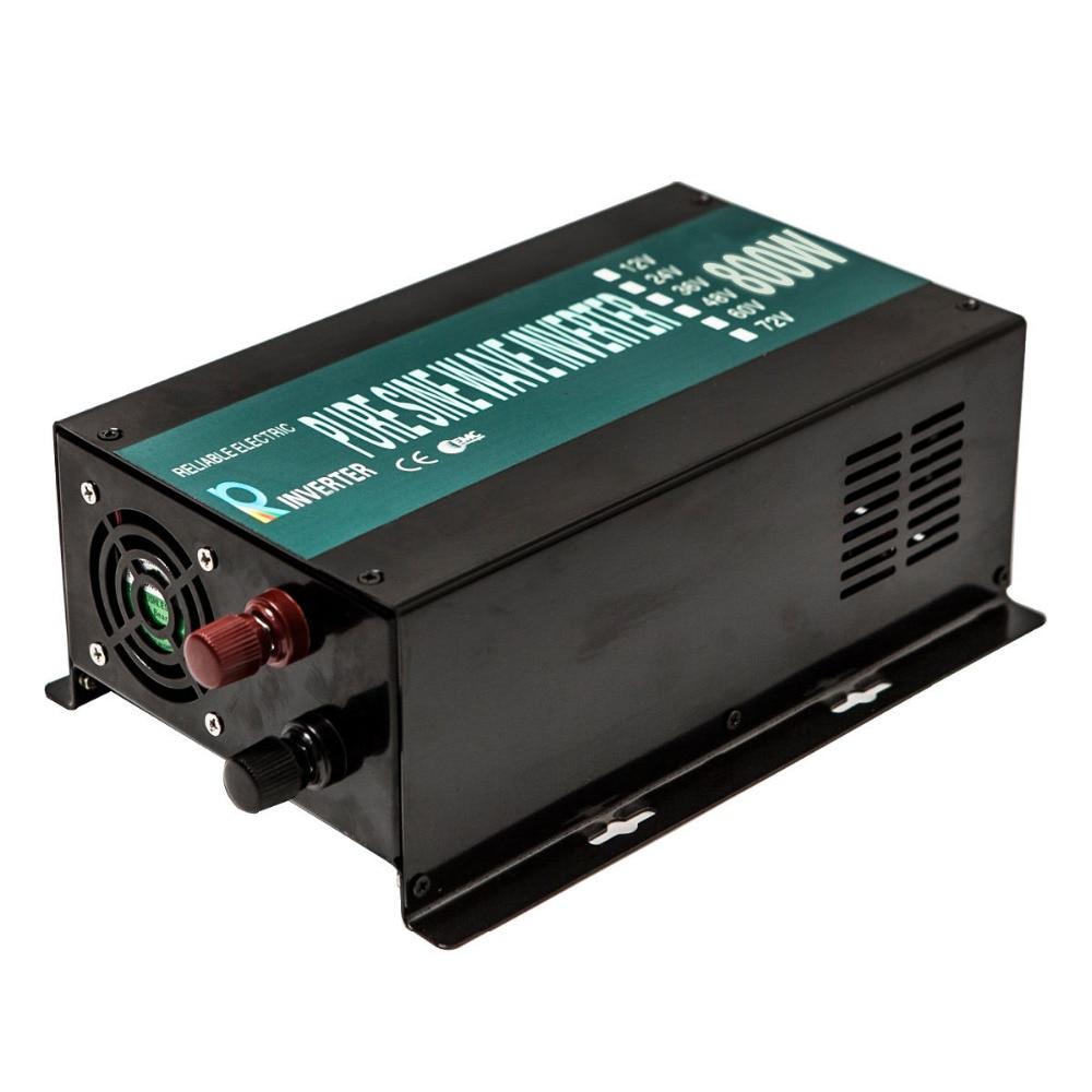 Чистая синусоида инвертор солнечная панель генератор солнечный инвертор 800 Вт 12 В/24 В/48 В постоянного тока до 110 В/120 В/220 В/230 В/240 В переменного