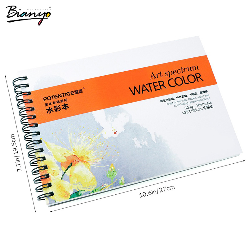 Bianyo A4 16 sheets Artist Watercolor Paper Sketch Book For Oil Paiting Drawing Diary Creative Notebook Gift Drawing Art Papers