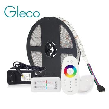 Светодиодные ленты Комплект DC12V Светодиодные ленты 5050 60 Светодиодный/м, 5 м с 2,4G инфракрасный светодиодный контроллер 12 V Питание 5050 Светодио...