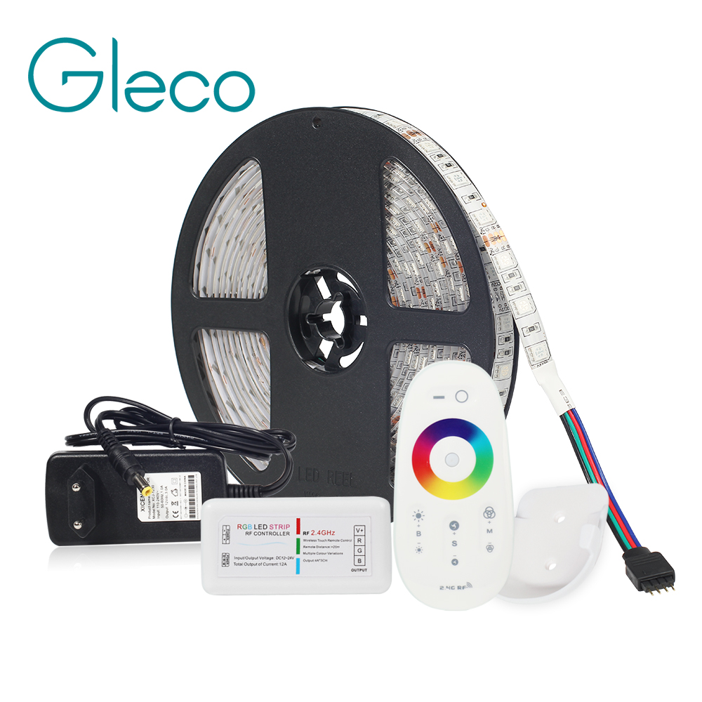LED Kit de DC12V tira de LED de 5050 60LED/m 5 m con 2,4g controlador de LED RF 12 V fuente de alimentación 5050 tira LED RGB RGBW RGBWW CWW