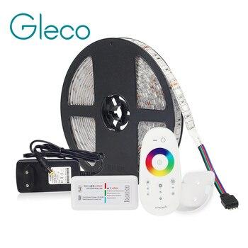 LED STRIP Kit DC12V LED Strip 5050 60LED/m 5 M với 2.4G RF Điều Khiển LED 12 V cung Cấp điện 5050 DẪN Dải RGB RGBW RGBWW CWW