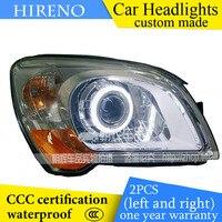 Hireno Custom Modified Headlamp For KIA Sportage 2007 12 Headlight Assembly Car Styling Angel Lens Beam