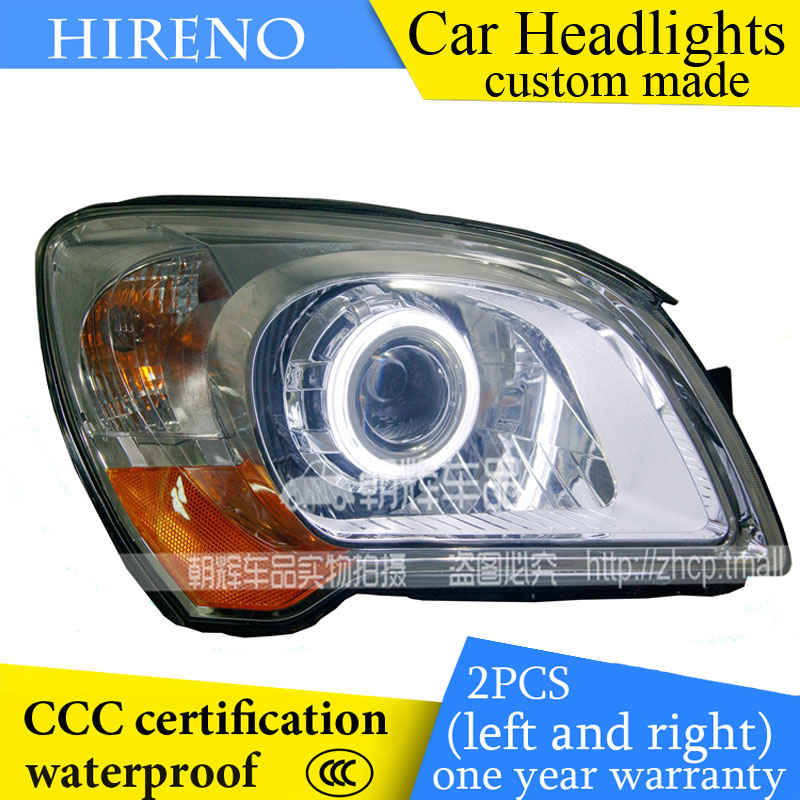 Hireno custom Modified Headlamp for KIA Sportage 2007-12 Headlight Assembly Car styling Angel Lens Beam HID Xenon 2 pcs hireno headlamp for cadillac xt5 2016 2018 headlight headlight assembly led drl angel lens double beam hid xenon 2pcs