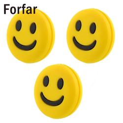 Forfar 3pcs lovely cute mini smile face shock vibration dampener absorber for tennis racquet racket.jpg 250x250