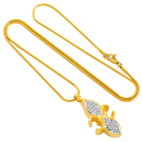 VH 3 Fashion Geometric Round Circle Pendant Necklaces Minimalism Women Short Chain Necklaces