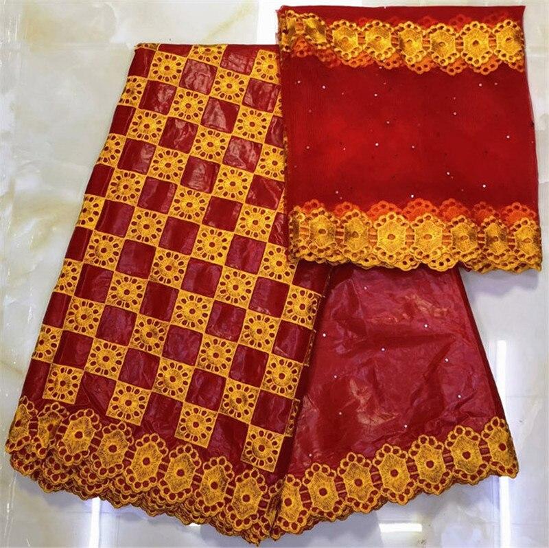 african fabric basin riche getzner bazin brode getzner 2019 dentelle tissu nigerian lace material high quality 7yard/lotYKB 1-in Fabric from Home & Garden    3