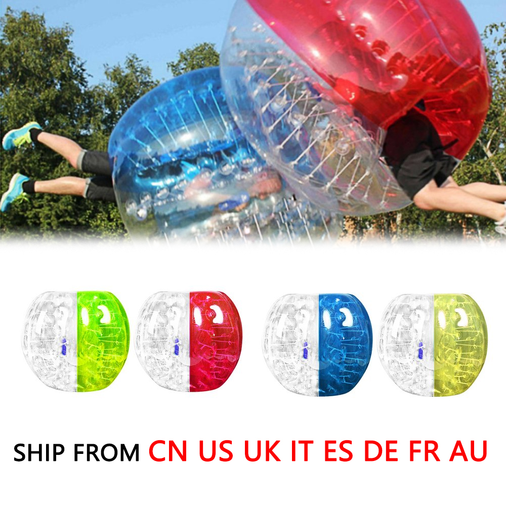 1m Mixed Color Outdoor Activity PVC Inflatable Bumper Bubble Soccer For Adult Buffer Ball Running Family Game Drop Shipping cheapest crazy best material tpu inflatable body bumper ball bubble soccer ball bubble ball for football