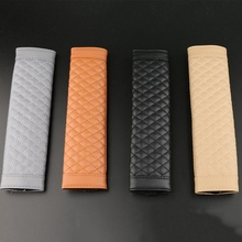 2Pcs Lot Universal Car Seat Belts Covers Leather Auto Padding Seat Belt Car Covers Cars font