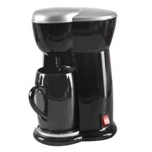 Mini Coffee Machine Single Cup Espresso Machine Home Electric Automatic Coffee Machine(Eu Plug) mini red small round machine home children automatic popcorn machine electric non commercial can be added with sugar eu plug
