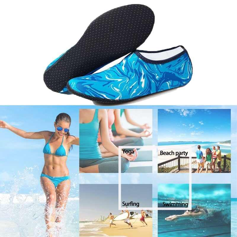 ว่ายน้ำ Aqua รองเท้าผู้ชายผู้หญิงรองเท้า Unisex Aqua รองเท้านุ่มเดินรองเท้าดำน้ำถุงเท้าลื่นรองเท้าผ้าใบ sea รองเท้าแตะ