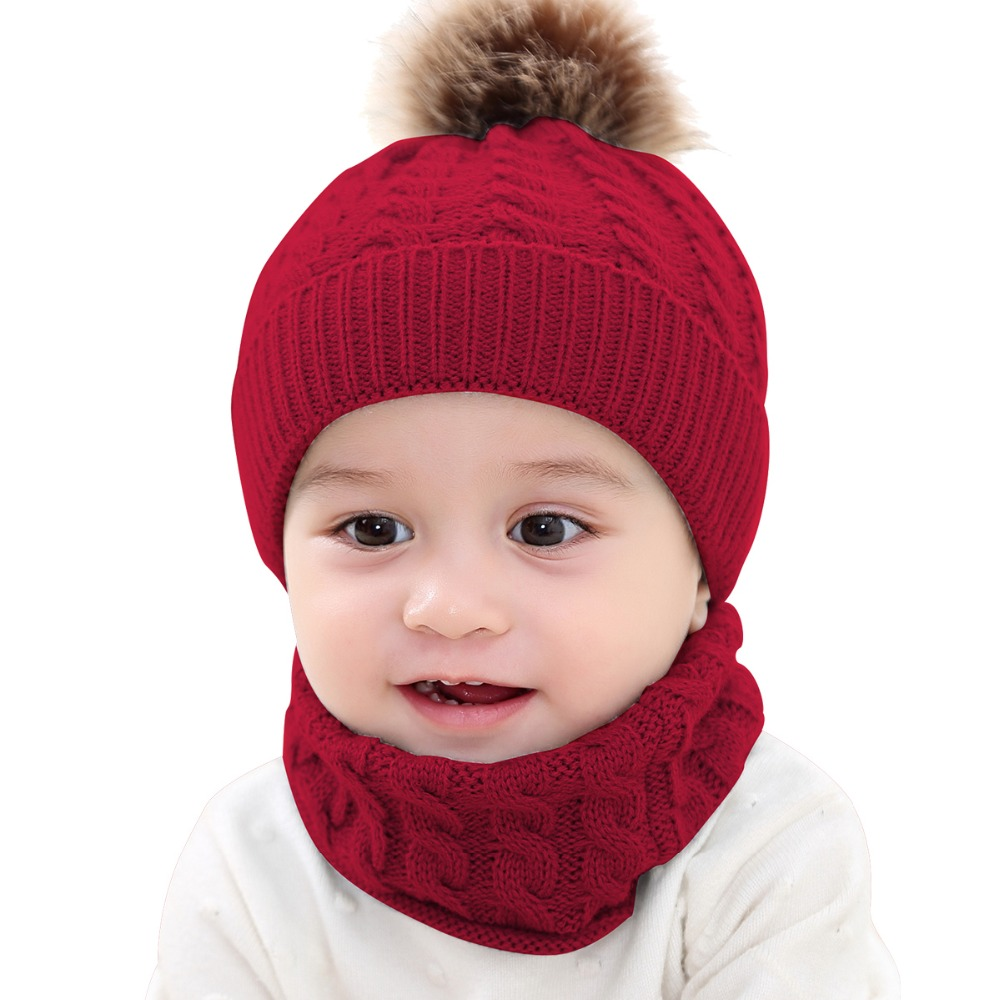 e2ec1571d7c0c1 Puseky Adorable Hotest Toddler Infant Baby Girls Boys Warm Hat Winter  Hooded Scarf Ear flap Knitted Cap Cute Gift Suit For 0-2Y