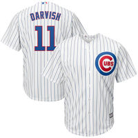 Men S Chicago Cubs Yu Darvish Majestic White Royal Official Cool Base Player Jersey