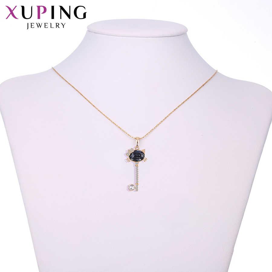 Xuping エレガントな愛のパターンクリスタルから女性ペンダントネックレスバレンタインデーのギフト M14-3000