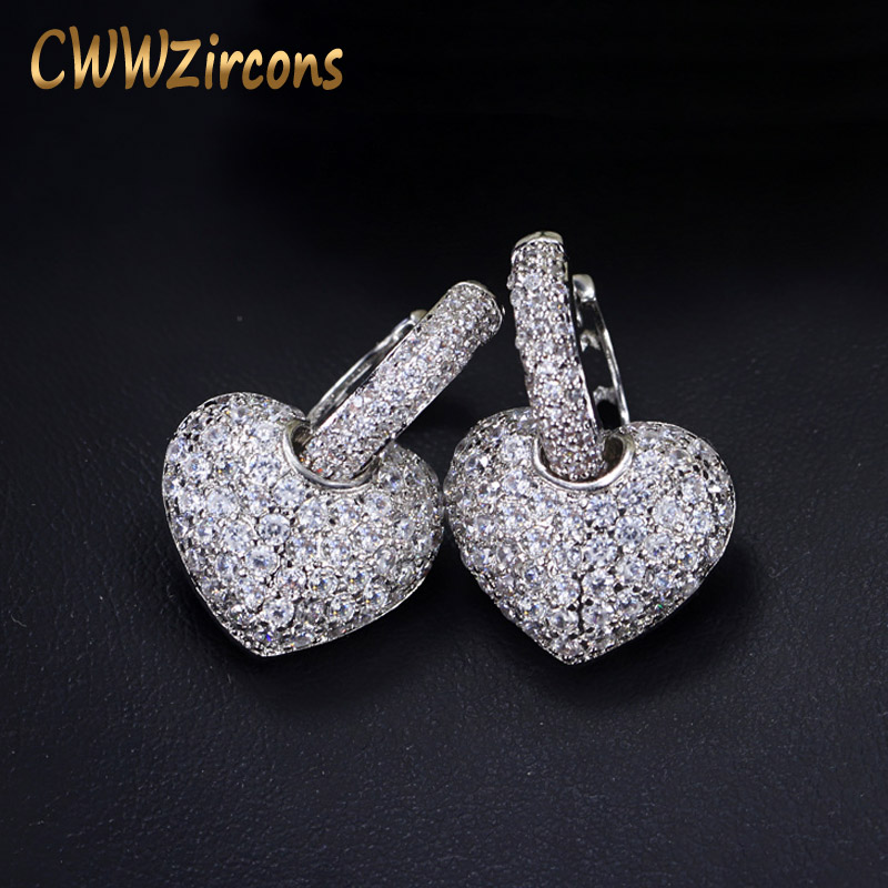 CWWZircons Brand New Fashion Clear Hook Micro Pave Cubic Zirs