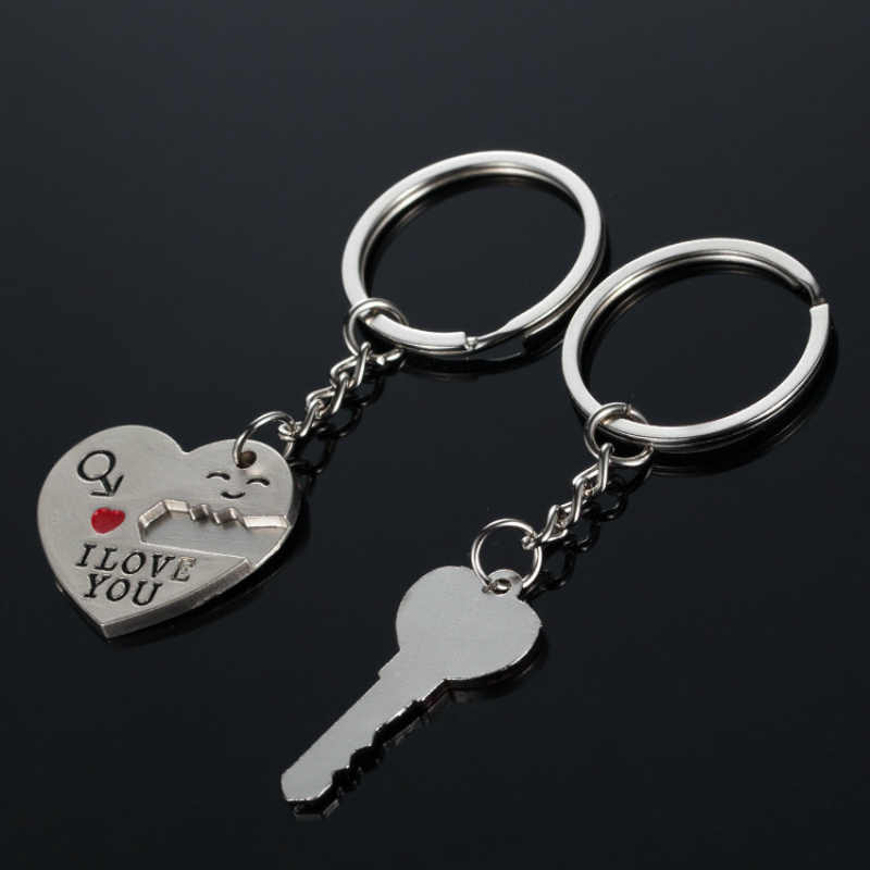 2 шт./1 пара романтическая пара ключей сердце I Love You подвеска брелок цепь для ключей брелок романтические влюбленные друг подарок