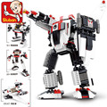 Sluban Robot Series Star Soldier B0337 Educational DIY Jigsaw Construction Bricks action figure toys for children