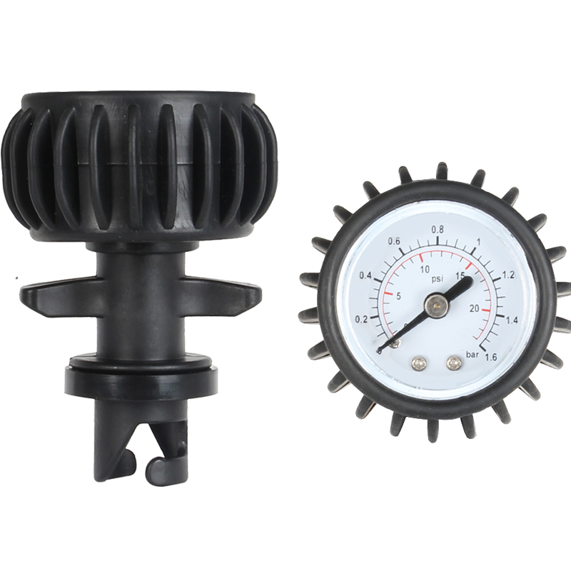 For Inflatable Boat Air Pressure Gauge Air Thermometer Kayak Test Air Valve Connector SUP Stand Up Paddle Board Etc