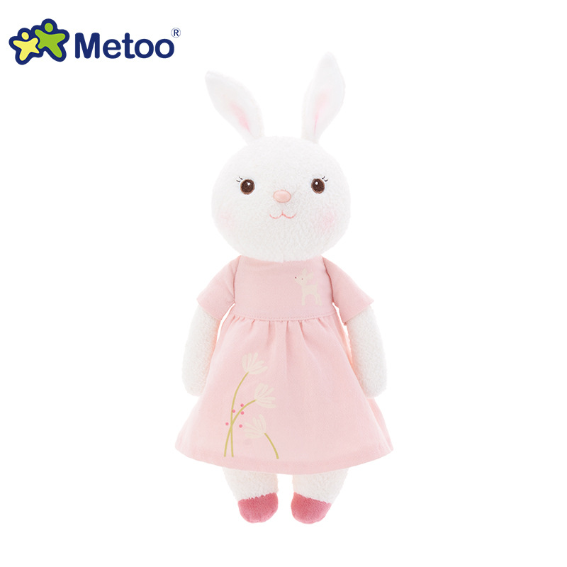 34cm Kawaii Plush Sweet Cute Lovely Stuffed Baby Kids Toys for Girls Birthday Christmas Gift Tiramitu Rabbits Mini Metoo Doll little cute flocking doll toys kawaii mini cats decoration toys for girls little exquisite dolls best christmas gifts for girls