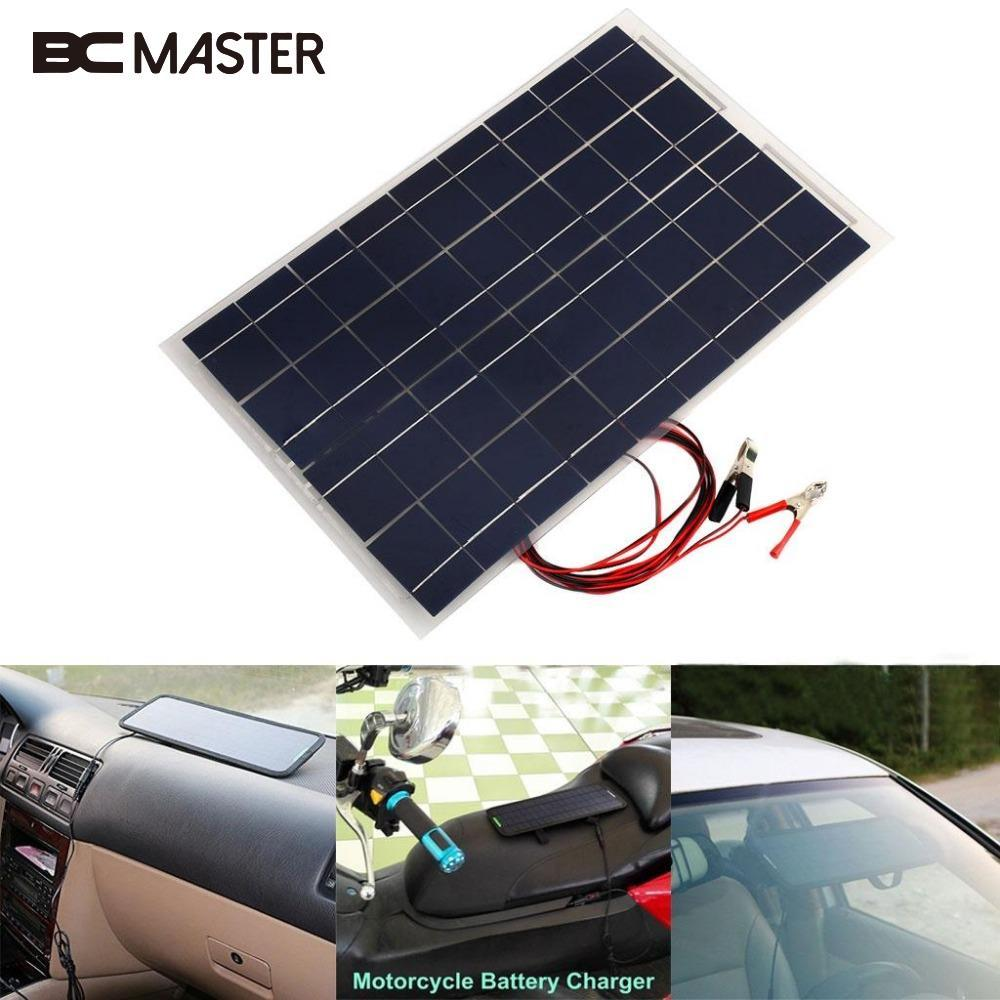 BCMaster 18V 30W Smart Solar Power Panel Car RV Boat DIY Battery Charger Solar panel W/Alligator Clip Outdoor Travelling Module издательство аст мифы древней греции 12 подвигов геракла
