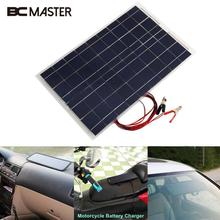 BCMaster 18V 30W Smart Solar Power Panel Car RV Boat DIY Battery Charger Solar panel W/Alligator Clip Outdoor Travelling Module
