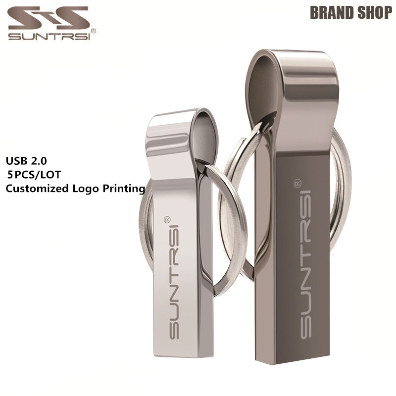 Suntrsi 5 teile/los Metall USB-Stick Wasserdicht 4 gb 8 gb 16 gb Stick Großhandel Preis Stick Angepasst logo USB Stick 2,0