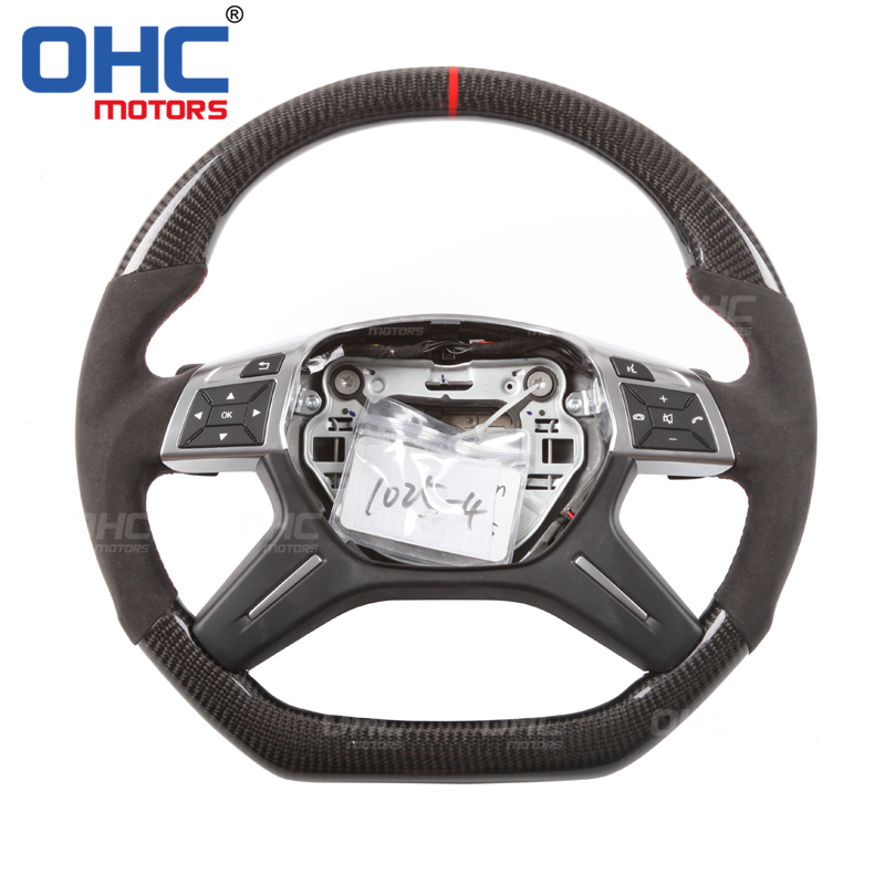 Real Carbon Fiber  Steering  Wheel for Mercedes Benz W463 W166 X166 G ML GLE GL GLS from OHC Motors Steering Wheels & Steering Wheel Hubs     - title=