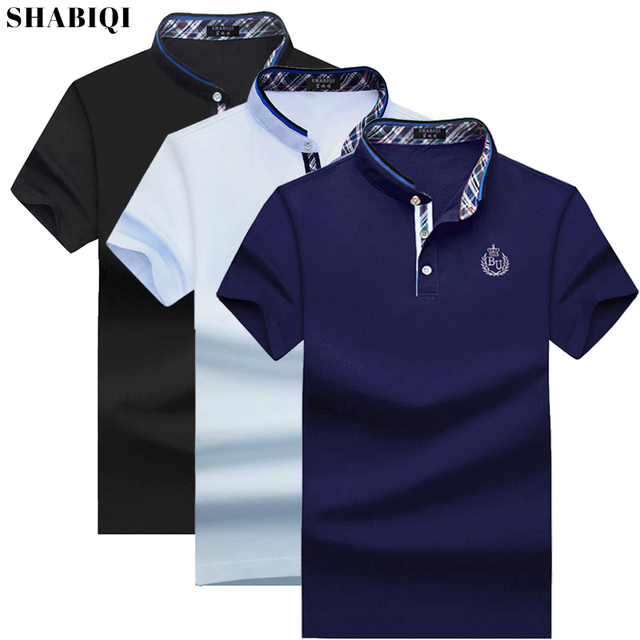 91fe498c93 Plus Size S 10XL Men S Polo Shirt 2019 Summer Men S Casual Breathable Blue  Stand