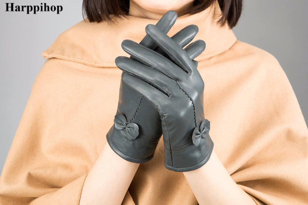 HTB1hysLPXXXXXchapXXq6xXFXXXH - women's genuine leather gloves red sheepskin gloves autumn and winter fashion female windproof gloves