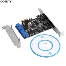 2 Port 19Pin USB 3.0 Card PCI-e to Internal 20Pin Male Ports Adapter PCI Express