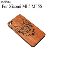 Retro Natural Handmade Carving Bamboo Real Wood Cover For Xiaomi 5 5s MI 5 MI 5S