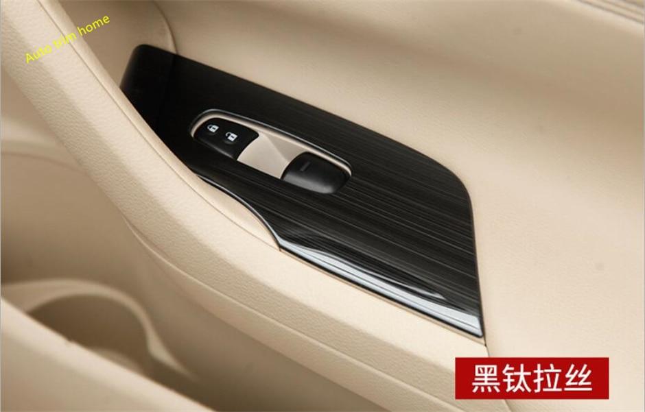 Lapetus Pour Nissan Altima/Teana 2013-2018 En Acier Inoxydable À L'intérieur De Voiture Porte Fenêtre Ascenseur Commutateur Boutons Couvercle Du Panneau garniture 4 pcs