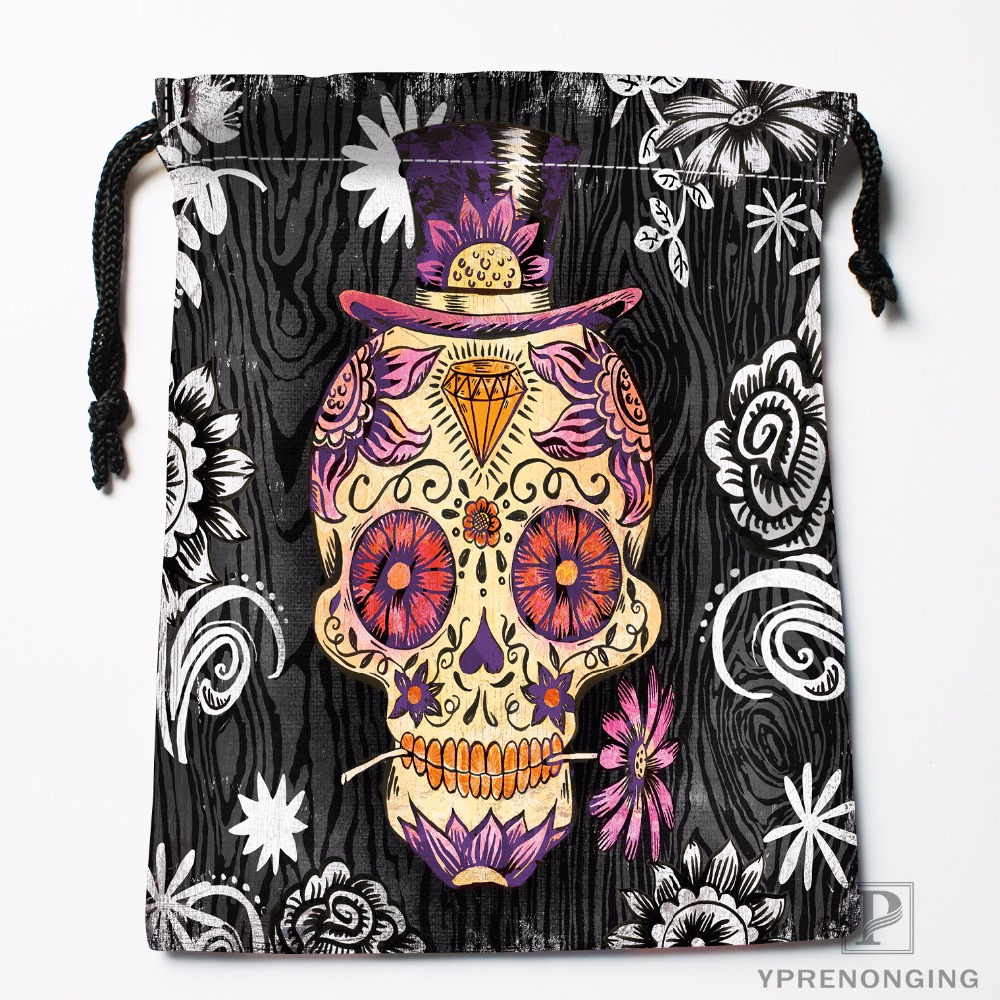Custom Hollywood Undead Sugar Skulls Drawstring Bags Travel Storage Mini Pouch Swim Hiking Toy Bag Size 18x22cm#0412-04-238